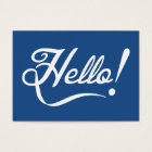 Hello Classic Blue Business Card