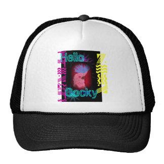 Hello Cocky Mesh Hats