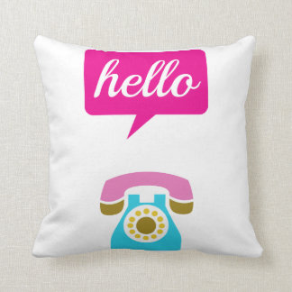 Hello Cute Colorful Hello Cushion