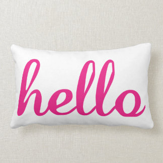 Hello Cute Colorful Hello Gifts Lumbar Cushion