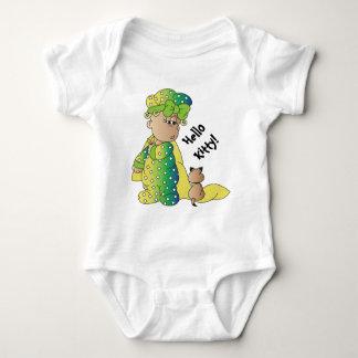 Hello, Cute Fun Kitty T Shirt