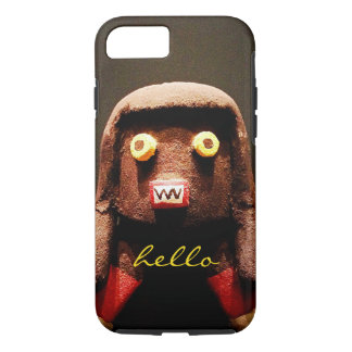 """Hello"" cute funny odd face photo cell phone case"