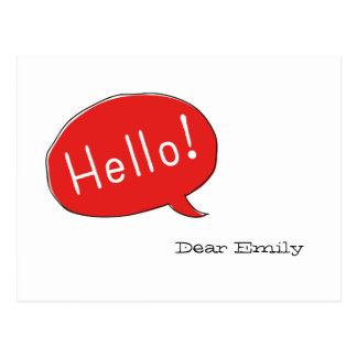 Hello! Dear… Postcard