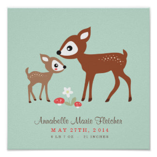 Hello Deer! Baby Nursery Wall Art