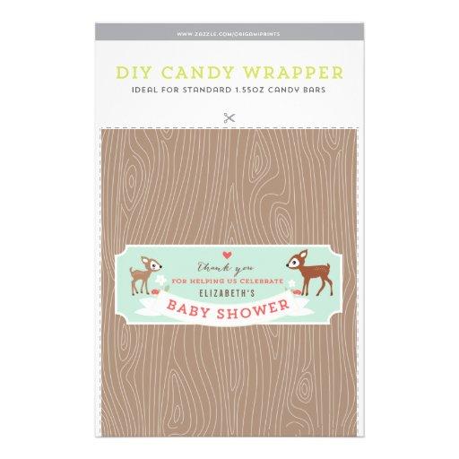 Hello Deer! Baby Shower 1.55oz Candy Bar Template Custom Flyer