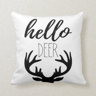 Hello Deer Pillow