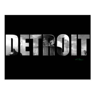 Hello Detroit Postcard