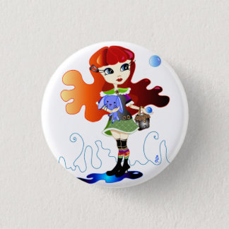 Hello Dollies: Fira and Bluebunny 3 Cm Round Badge