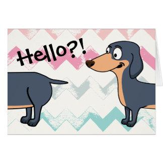 "Hello Doxie (4.25"" x 5.5""), white envelopes inc. Card"