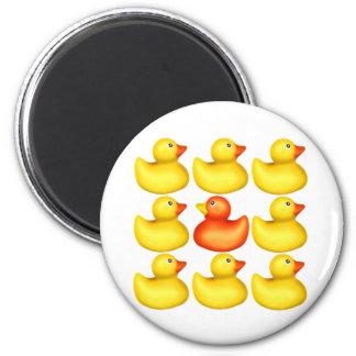 Hello Ducky! 6 Cm Round Magnet
