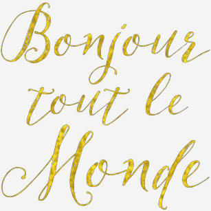 77ca02c386304d Bonjour Tout Le Monde Gifts   Gift Ideas   Zazzle UK