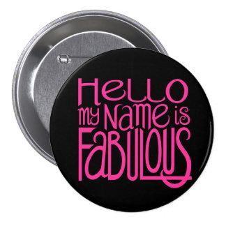 Hello Fabulous Button