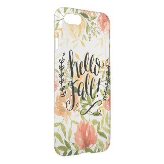 """""""Hello Fall"""" iPhone 8/7 Clearly™ Deflector Case"""