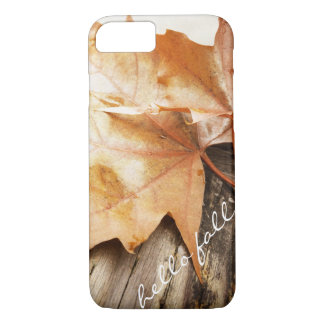 Hello Fall iPhone Case Template