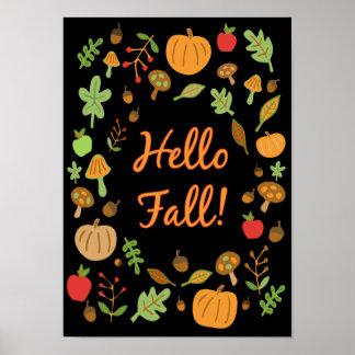 Hello Fall! Poster