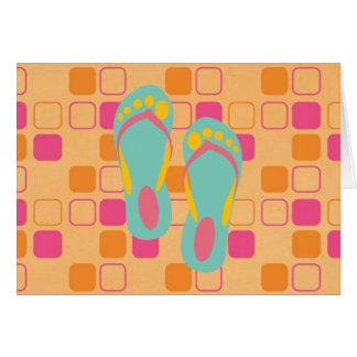 Hello Flip Flops Greeting Cards
