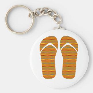 Hello Flip Flops Key Chain