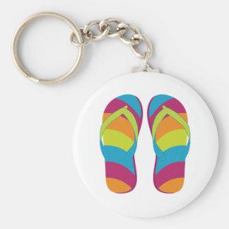 Hello Flip Flops Keychain