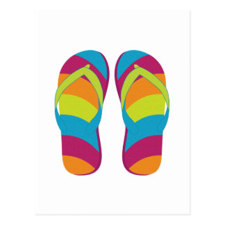 Hello Flip Flops Post Card
