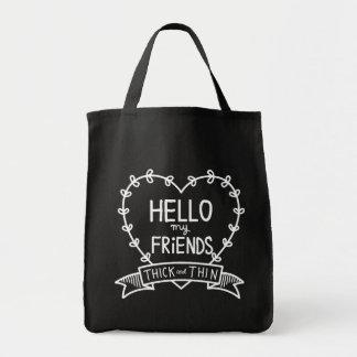 HELLO FRIENDS_BLK TOTE BAG