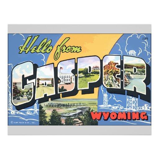 Hello From Casper Wyoming, Vintage Flyer