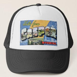 Hello From Casper Wyoming, Vintage Trucker Hat