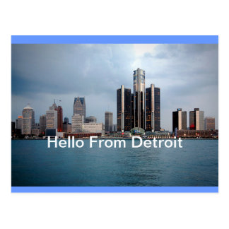 Hello From Detroit, Michigan Postcard