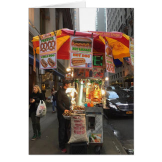 Hello from New York City Hot dog Stand Card