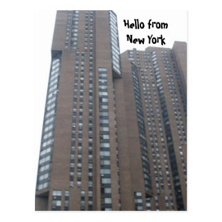 HELLO FROM NEW YORK postcard