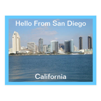 Hello From San Diego, California  Postcard