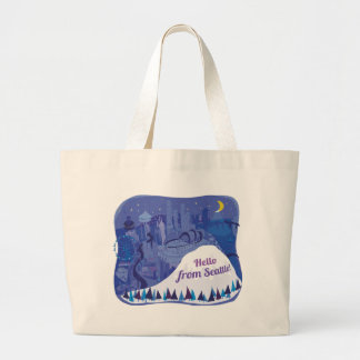 Hello from Seattle Jumbo Tote Bag