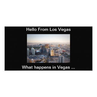 Hello From Vegas Post Card Photo Greeting Card