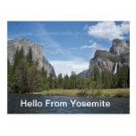 Hello From Yosemite  Postcard