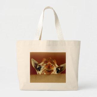 Hello Giraffe Canvas Bags