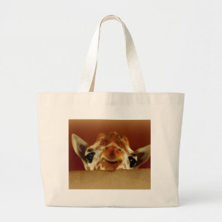 Hello Giraffe Large Tote Bag