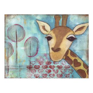 Hello ~ Giraffe Postcard