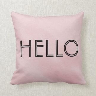 """Hello"" ""Goodbye"" Pink Throw Pillow"