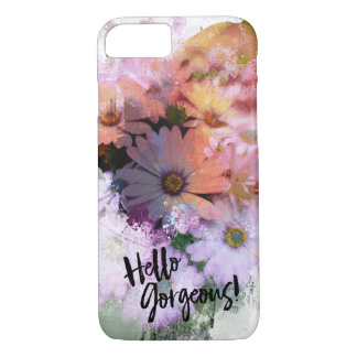 Hello Gorgeous Colorful Daisies iPhone 8/7 Case