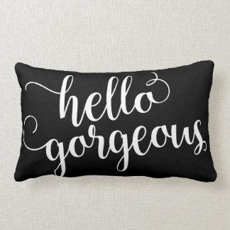 Hello Gorgeous Lumbar Pillow