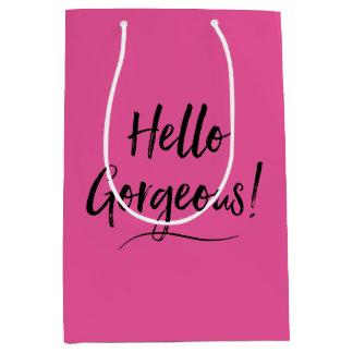 """""""Hello Gorgeous!"""" Medium Gift Bag"""