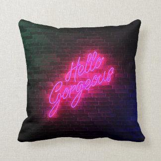 Hello Gorgeous - Neon Sign Light Cushion