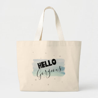 Hello Gorgeous Watercolor Jumbo Tote Bag