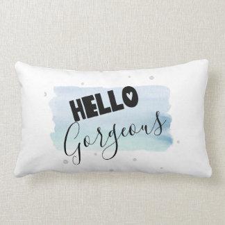 Hello Gorgeous Watercolor Paint Pillow