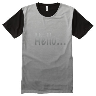 Hello Gradient Silver Grey All-Over Print T-Shirt