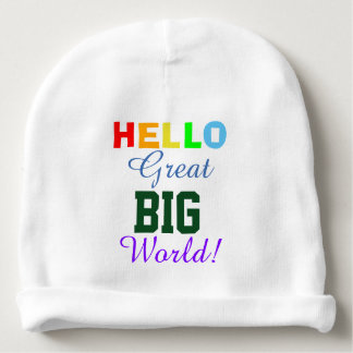 Hello Great Big World Two Sided Baby Hat Baby Beanie