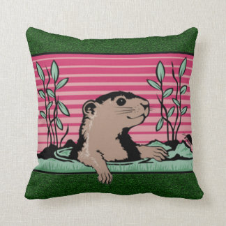 Hello, Groundhog's Shadow - Cushion