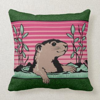 Hello, Groundhog's Shadow - Throw Cushions