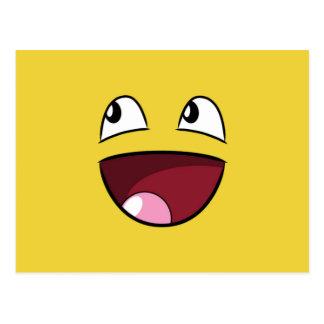 hello happy face postcard