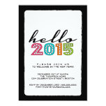 Hello Happy New Year 2014 New Year's Eve Party Personalised Invite