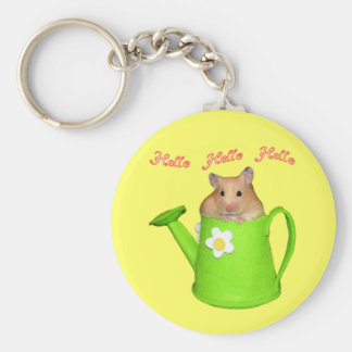 Hello hello hamster basic round button key ring